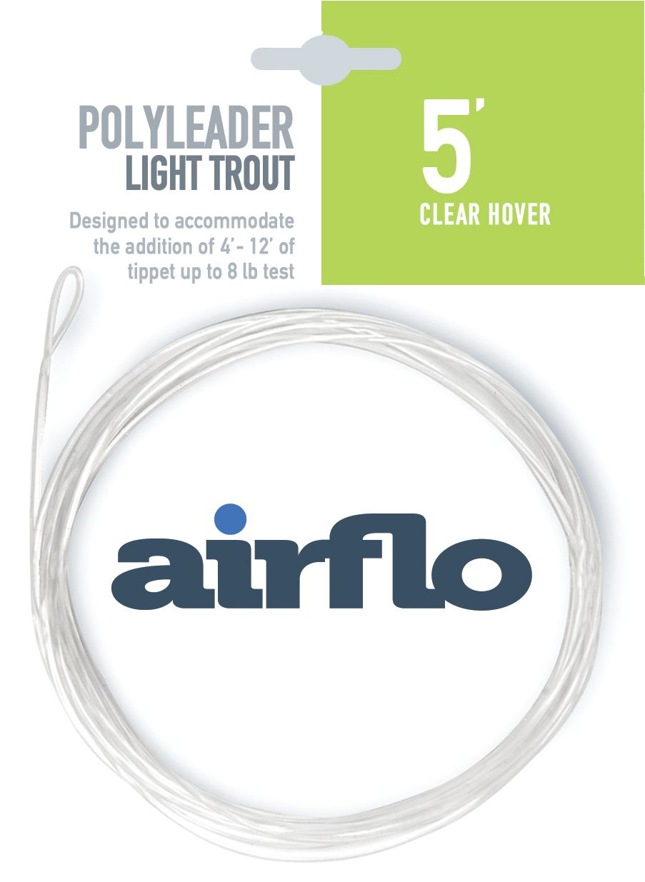 """Polyleader light trout 5ft clear hover 0.5"""" per sec"""