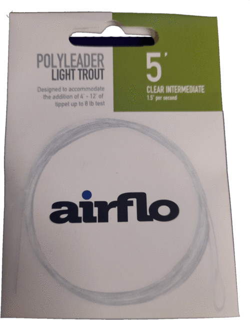 """Polyleader light trout 5ft clear inter 1.5"""" per sec"""