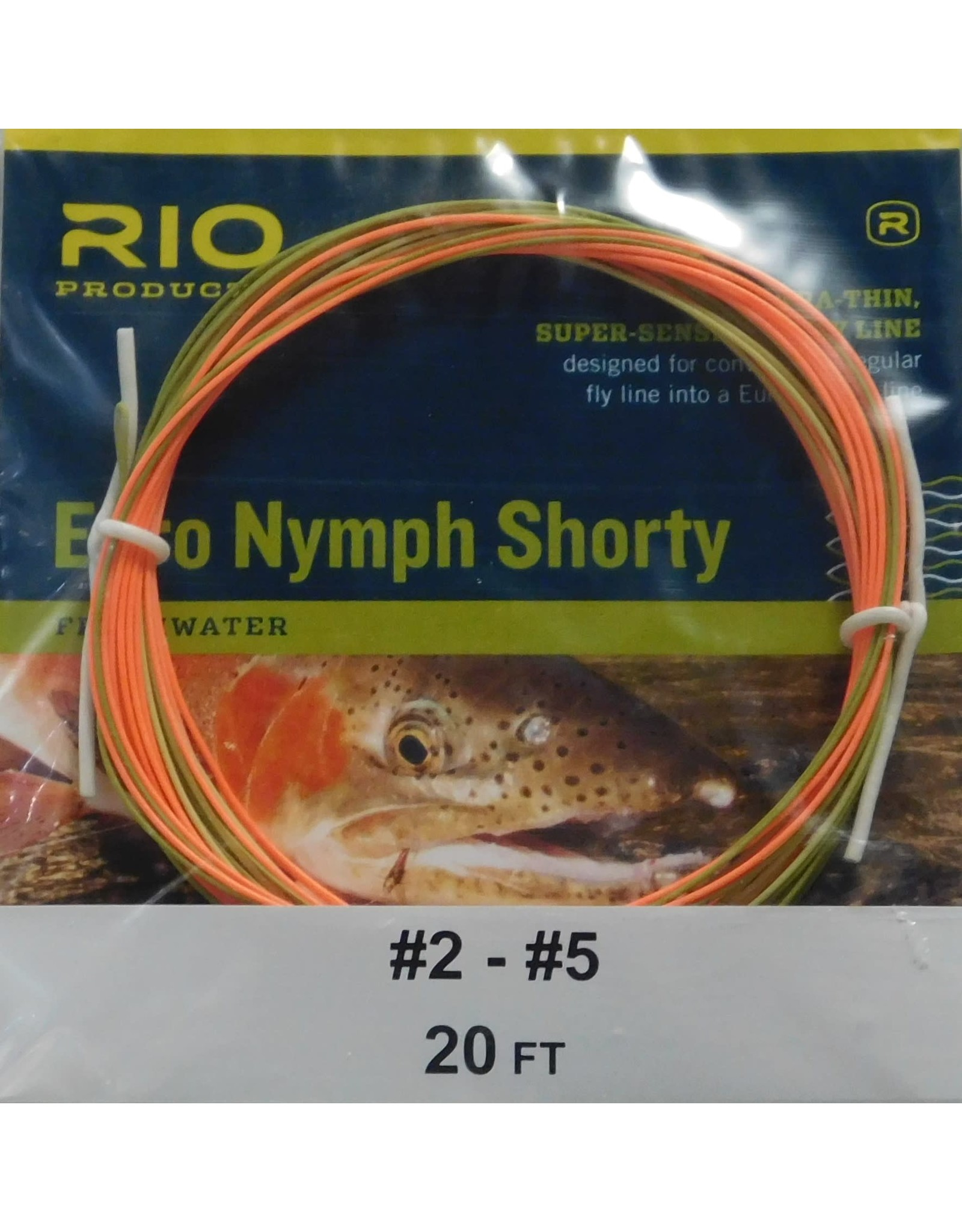Euro nymph shorty 20ft 2-5