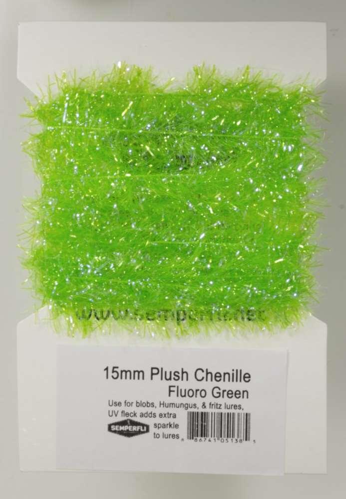 Plush Chenile Fl Green